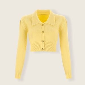 NWT Cider Yellow Cropped Sweater XXS/XS SOLD OUT